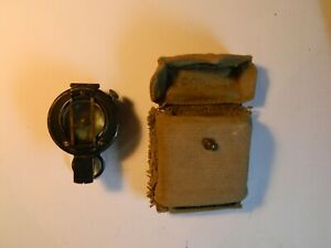 Prismatic marching compass Francis Barker Mk III and modified pattern 37 pouch