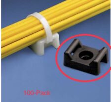 100 Pieces Pack 22mm Cable Tie Mount Base Saddle Wire Holder Screw-in Lot Black