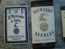 5 packs Colletable vintage sewing machine needles English steel rare H,Milwards
