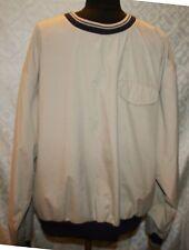 Tommy Hilfiger Golf Pullover Shirt XL Beige Mens Crewneck Windbreaker Wind Break