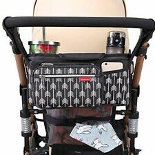 Lekebaby Baby Stroller Organizer with Insulated Cup Holders Universal (Black)