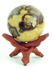 "BUTW Septarian Gemstone Dragon Stone 76mm/3"" Lapidary Carved Sphere 0745P"
