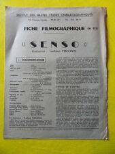 cinéma IDHEC fiche 132 Senso de Luchino Visconti par Maurice Failevic