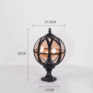 3 x Globe Pillar Outdoor Globe Lights Victorian Traditional: New In Original Box