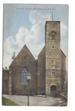 Vintage postcard St Peter's Church, Monkwearmouth, Sunderland. pmk 1946