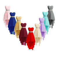Womens Plus Size High Low Bridesmaid Dresses Homecoming Formal Prom Party Gown