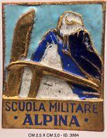 """Alpini Scuola Militare distintivo modello piccolo E.I. produttore anonimo """"3984"""""""