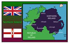 NORTHERN IRELAND MAP - SOUVENIR NOVELTY FRIDGE MAGNET - SIGHTS / FLAG / GIFTS