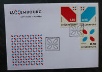 2016 LUXEMBOURG NEW SIGNATURE SET OF 3 STAMPS FDC FIRST DAY COVER