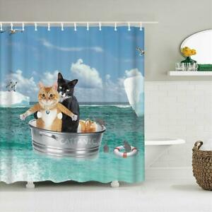 Cat Shower Curtains Bathroom Shower Curtain Cute 3d Fabri