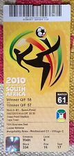 2010 World Cup Semi-Final Ticket:- Holland v Uruguay *Excellent Condition