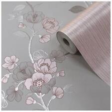 MURIVA Delta Stone Rose Metallic Luxury Floral Flowers Roses Wallpaper 701621