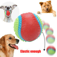 AU_ KQ_ PW_ 1Pcs Pets Dog Rubber Beef Flavor Ball Interactive Molar Bite Chew To