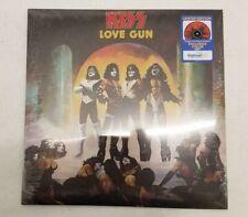 KISS LOVE GUN EXCLUSIVE TANGERINE AQUA SPLATTER LE  DISC VINYL RECORD LP NEW