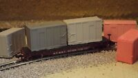 N-Scale  6 Unfinished 20' High-Cube MSW Trash Container/ Freight Car Loads/1:160