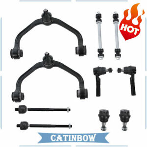 For 98-2011 Ford Ranger 10PCS Front Control Arm Ball Joints Inner Outer Tie Rods