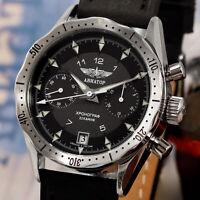 AVIATOR Poljot 3133/4581111 russischer Fliegerchronograph Uhr Fliegeruhr