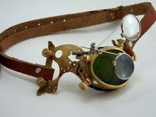 Steampunk Monocle Solid brass mono goggle eyepatch cyborg