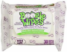 2 Pack Boogie Wipes Gentle Saline Unscented Wipes Extra Soft 30 Count Each