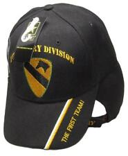 U.S. Army 1st Cavalry Division Shadow Black Embroidered Cap Hat