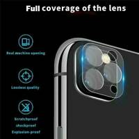 2X For iPhone 11 Pro Max FULL COVER Tempered Glass Camera Lens Screen Protectors