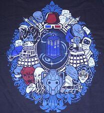 """We Were Framed"" Doctor Who Tardis Dalek Silence Women's Large Shirt Teevillain"