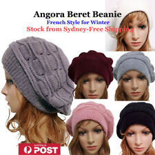 c4588579b14fa Angora   Cotton Winter French Style Beret