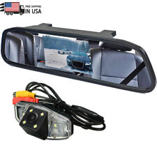 Iposter 43 Rear Mirror Monitor Reversing Backup Hd Camera Kit For Honda