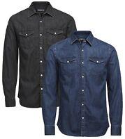 JACK & JONES Slim Fit Denim Shirt New Fashion Dark Blue & Black Jean Shirts