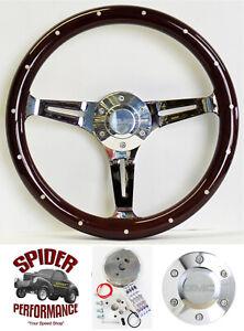 """1982-1994 S-15 Jimmy steering wheel GMC 14"""" DARK MAHOGANY"""
