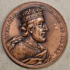 Medallion, Edward II Memorial, French Dies, 20th Century Copy  0702-16