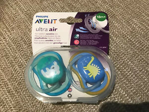 Philips Avent Ultra Air Pacifier 2 Pack 18m+ Toddlers Dummies