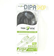 Cavo USB - USB TeKone TO-US205L Prolunga Maschio Femmina M/F Lunghezza 10m hsb
