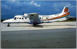 Vintage PELANGI AIR Aviation Postcard Malaysia / Kuala Lumpur Subang Airport