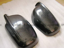 NO1 2Pcs Side Mirror Cover Stick on type For Nissan Skyline R34 GTR Carbon Fiber