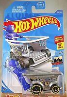 2020 Hot Wheels #122 HW Ride-Ons 2/5 AISLE DRIVER Silver Blue Figure wBlack OH5s