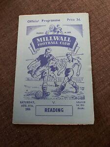 1955 Milwall V Reading Soccer/Football Programme