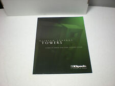 ORIGINAL KLIPSCH SYNERGY TOWERS KSF10.5 KSF8.5 KSF-C5 KSF-S5 SPEAKERS BROCHURE