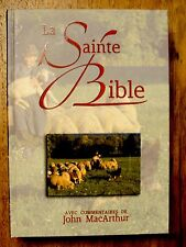 French Bible, MacArthur Study Bible, Revised Segond, La Sainte Bible Hardcover