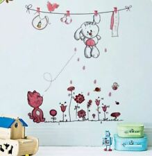 DIY Baby Girl Wall Stickers Home Decorating Photo (pink)