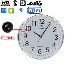 2017 WIRELESS CLOCK CAMERA WIFI IP HOME SPY HIDDEN SECURITY VIDEO RECORDER CAM