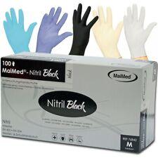 100 Nitrilhandschuhe Maimed Black Nitril Puderfrei XL Einweghandschuhe schwarz