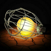 Retro Metall Lamp-Cage Komplett Set Lampen-Schutzkorb Neu. Birne Schutzkorb Q9F3