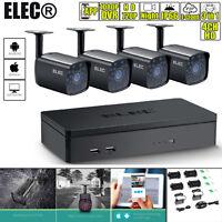 ELEC 4CH 1080N CCTV DVR 1500TVL 720P IR-Cut Home Security Camera System Outdoor