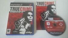 TRUE CRIME STREETS OF LA - SONY PLAYSTATION 2 - JEU PS2 COMPLET