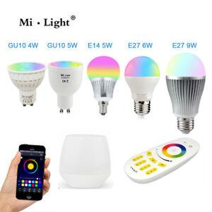 RGBW W/WW E27 GU10 MR16 LED Light Dimmable RGB Bulb Lamp 2.4G Wireless Milight