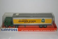 Winross 1970's Quaker State Motor Oil, White Semi Truck, Nice with Original Box
