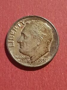 1951 Roosevelt SILVER One Dime USA
