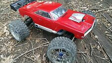 Custom Painted RC Body HPI Red 1969 Dodge Charger 1/8 Savage E Maxx Summit Revo