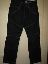 N26 ) MENS MCKENZIE BLACK CARGO STYLE  JEANS  BUTTON FLY   W 28  LEG 28